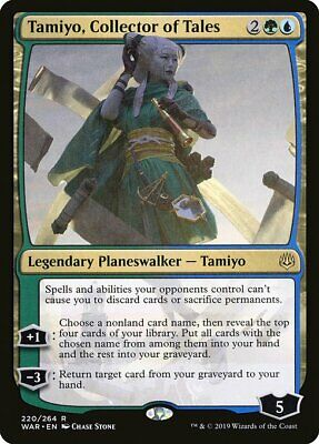 1 Tamiyo, Collector of Tales - Gold War of the Spark Mtg Magic Rare 1x x1