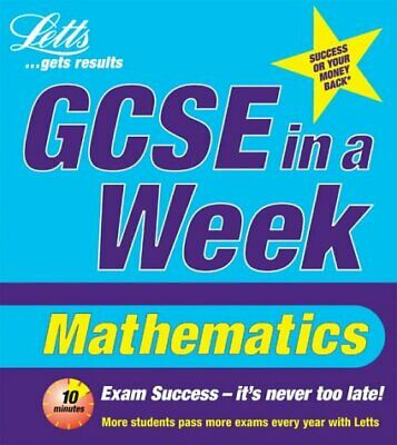 Maths (Revise GCSE in a Week) by Lee Cope, Catherine Brown, Paperback Used Book,