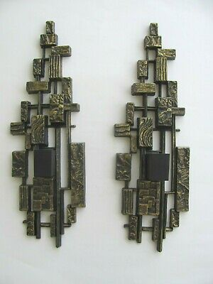 Vintage Syroco Brutalist Wall Sconce Candle Holders