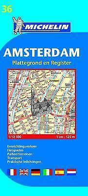 Amsterdam - Michelin City Plan 36: City Plans (Michelin City Plans) by , NEW Boo