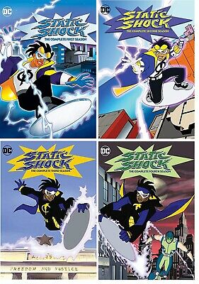 STATIC SHOCK Complete Series Seasons 1-4 DVD Bundle NEW Free Ship