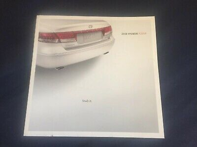 2008 Hyundia Azera Color Brochure Catalog Prospekt