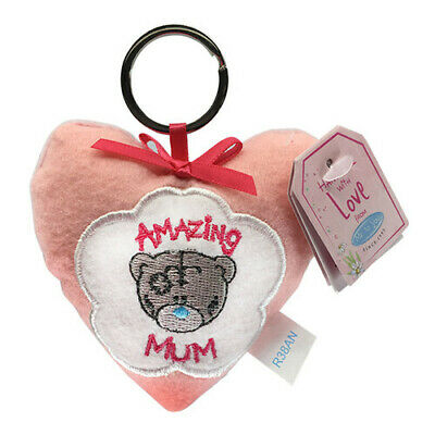 Pink Heart Shaped Me To You Mothers Day Keyring Plush Heart Amazing Mum