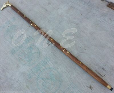 Vintage Eagle Brass Handle Antique Style Victorian Cane Wooden Walking Stick New