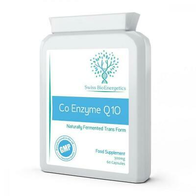 Co Enzyme Q10 CoQ10 300mg 60 Capsules - Superior Naturally Fermented Trans...