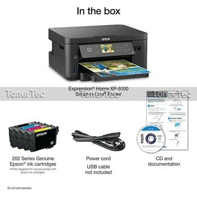 Epson Expression Home XP5100 Wi-Fi MFP Color Printer #202/202XL INK C11CG29501