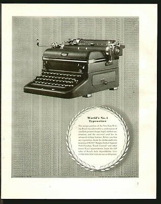 1940 small Print Ad of American Flyer Typewriter It/'s A Beauty full letter size