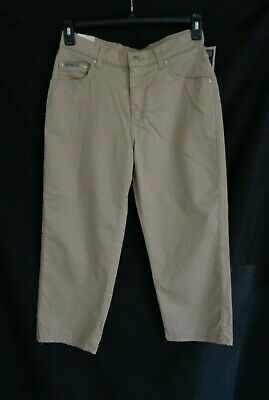 NWT Riveted by Lee Khaki flat front mid calf capri pants jeans women's 8 M