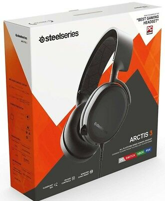 SteelSeries Arctis 3 (2019) All-Platform Gaming Headset PC/PS4/XB1/Switch Black