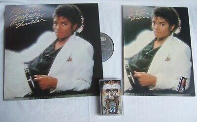 lot: MICHAEL JACKSON Thriller Songbook & Vinyl LP (greece) & Dangerous Cassette