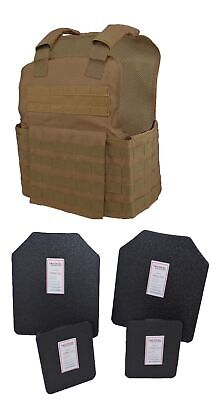 Tactical Scorpion Gear Brown Muircat Carrier + Level IIIA Body Armor Plates