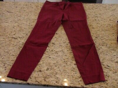 THE LIMITED Ideal Stretch Womens Maroon Red Solid Ankle Length Pants Size 10 GUC