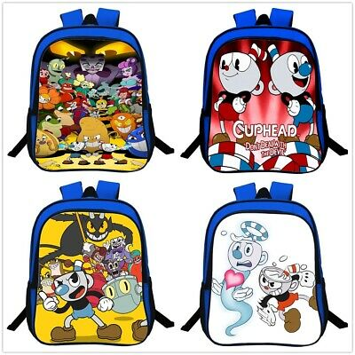Cuphead Personalised School Bag Kids Backpack Boys Travel Rucksack Books Bag