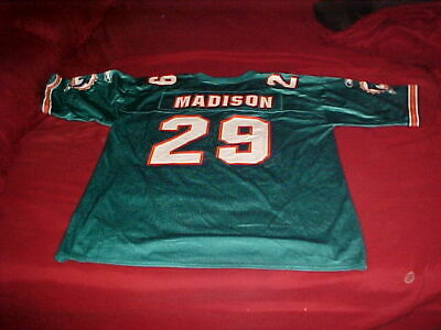 e6d875b3519 Sam Madison Miami Dolphins #29 Officail Reebok NFL Practice Jersey Size L