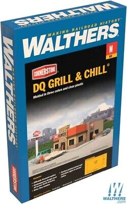 "Walthers 933-3846 DQ Grill & Chill(R) Kit - 4-1/2 x 3 x 1-9/16"" : N Scale"