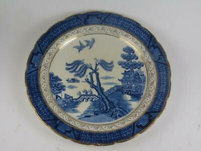 ANTIQUE REPLACEMENT CHINA Booths Real Old Willow Starter Plate A8025 1913