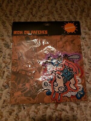 The Nick Box Exclusive Nicktoons Nickelodeon Iron on Patches Set NEW