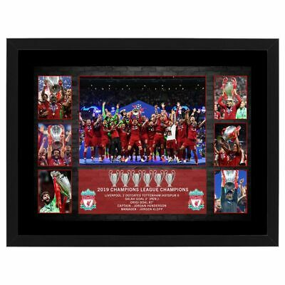 Liverpool Champions League 2019 Framed Football Photo Collage Salah