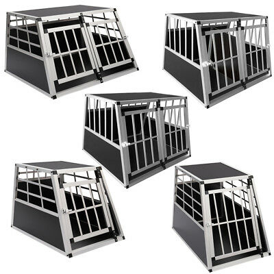 Aluminium Dog Pet Puppy Cage Kennel Travel Transport Crate Carrier Box Lockable