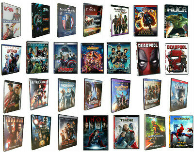 Pick 28 Marvel DVD Lot Movie Avengers Thor Iron Man 123 Collection Hulk Antman