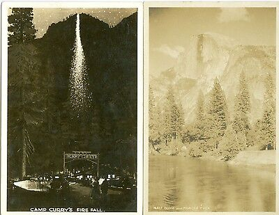 Yosemite National Park, CA Half Dome & Merced River and Camp Curry's Fire Fall