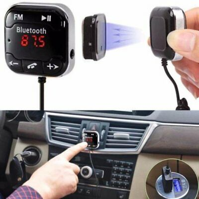 Handsfree Wireless Bluetooth LCD USB MP3 AUX SD FM Transmitter Magnet Car Kit YV