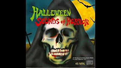 SOUNDS OF HALLOWEEN - SPOOKY*HORROR*CREEP/SCARY PARTY SOUNDTRACK CD 75 minutes