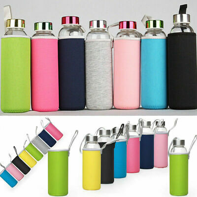 420-550mL Sport Water Bottle Cover Neoprene Insulated Sleeve Bag Case Pouch Gift