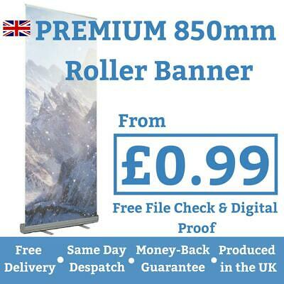 Roller Banner - Printed Artwork - Pop/Roll/Pull up Exhibition Stand Display~99p!