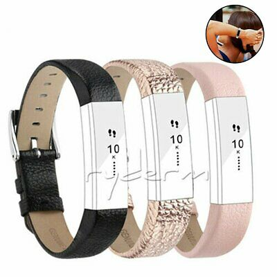 For Fitbit Alta / Alta HR Genuine Leather Watch Replacement Band Wrist Strap 6J