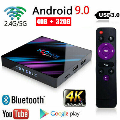2019 H96 Max Android 9.0 Smart TV Box 4GB + 32GB Quad Core 4K HD 2.4G 5G WiFi