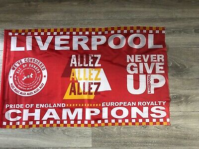 Liverpool European Cup Final Flag Madrid 2019 Champions League Winners
