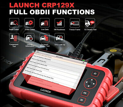 LAUNCH CRP129X Car Fault Code Reader Engine Diagnostic Scanner Reset Tool Tablet