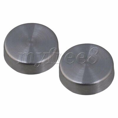 16x Round Cap Stainless Steel Mirror Screw Nails 16mm Dia for Advertising Glass