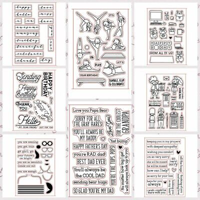 Summer Birthday Transparent Clear Silicone Stamp/Seal for DIY scrapbooking/photo