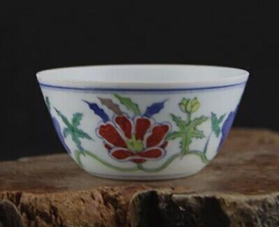 Hand made and painted Tea cup marked Chenghua Period Ming Dynasty