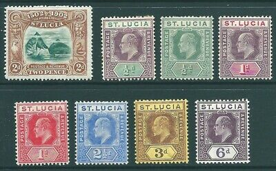 ST LUCIA mint stamp collection: Edward VII