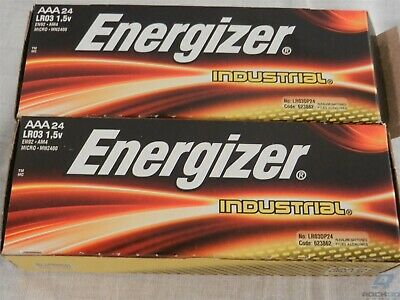 Lot of 48 AAA Energizer Industrial Alkaline Batteries Expiration Date 12-2027
