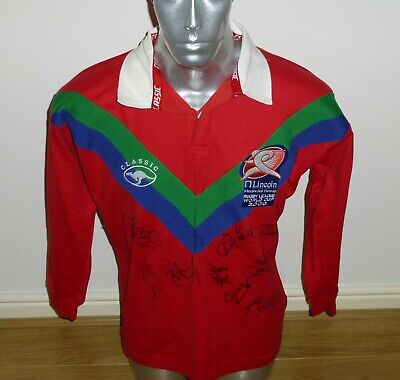 Super Rare Signed Rugby League World Cup 2000 Match Official`s On Field Shirt