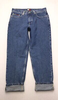 H309 VTG 90's Tommy Hilfiger High Rise Slim Straight Mom Crop Jeans sz 11 Ankle