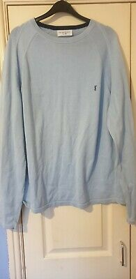 b615e83eabd YVES SAINT LAURENT mens vintage jumper size xl blue excellent ...