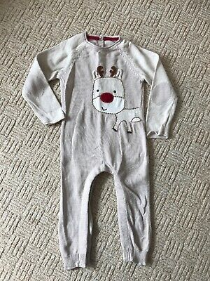 6cf85c3cf Waitrose John Lewis Christmas Reindeer All In One Outfit 12-18mths Boys  Girls Cl