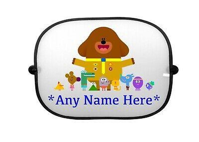 Personalised Hey Duggee Car Sunshade New Add Any Name