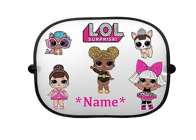 Personalised Lol Suprise Car Sunshade New Name Can Be Added 2x Shades