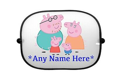 Personalised Peppa Pig Sunshade New Name Can Be Added