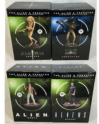 Eaglemoss Alien Predator Figurine Collection LOT Predalien Brett Bishop Newborn