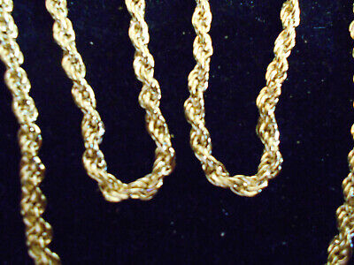 bling gold plated long fashion 24inch rope chain hip hop necklace JEWELRY FAT GP