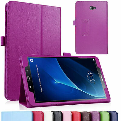 """For Samsung Tab A 8.0 10.1 E 9.6"""" Tablet PU Leather Flip Cover Case Litchi Grain"""