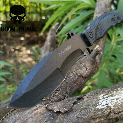 10.6 Fixed Blade Knife Camping Hunting Survival Tactical Portable Straight Knive