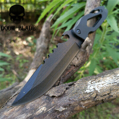 10.6IN Outdoor Survival Fixed Blade Knife Hunting Army Knives Cuchillo Tactico